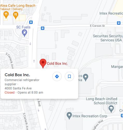 Long Beach CA location map
